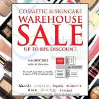 Read more about Kanebo Cosmetics & Skincare Warehouse Sale 4 - 6 Nov 2015