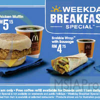 McDonald's fr RM4 Weekday Breakfast Specials 7 Oct 2015