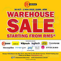 Read more about Radioshack Warehouse Sale 30 Oct - 1 Nov 2015