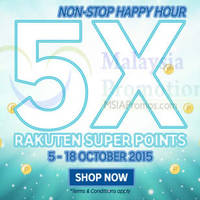 Rakuten 5x Super Points Promotion 8 - 18 Oct 2015