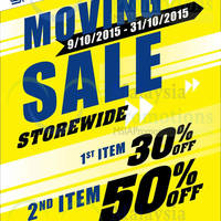 Sports Empire Moving Out Sale @ Aeon Ipoh Station 18 9 - 31 Oct 2015