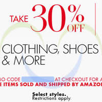 Read more about Amazon.com 30% OFF Clothing, Shoes & More (NO Min Spend) Coupon Code 26 - 28 Nov 2015