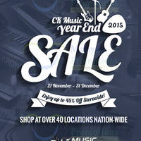 CK Music Year End Sale 26 Nov - 31 Dec 2015