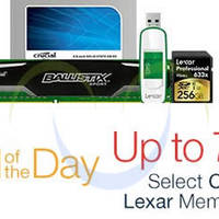 Crucial & Lexar Memory Products Up To 75% Off 24hr Promo 26 - 27 Nov 2015