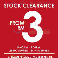 F.O.S Stock Clearance @ Temasya Industrial Park Shah Alam 25 - 29 Nov 2015