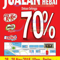 Nestle Confectionery Fair Up To 70% @ Ipoh 28 - 29 Nov 2015