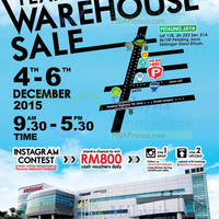 Pensonic Year End Warehouse Sale @ Petaling Jaya 4 - 6 Dec 2015