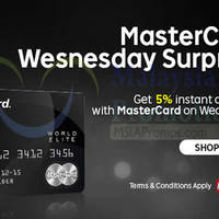 Rakuten Malaysia 5% OFF (NO Min Spend) Mastercard Promo 10 Feb 2016