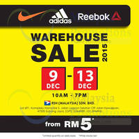 Read more about Royal Sporting House Nike, Adidas & Reebok Warehouse Sale @ Subang Jaya 9 - 13 Dec 2015