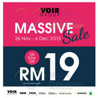 Voir Group Massive Sale 26 Nov - 6 Dec 2015