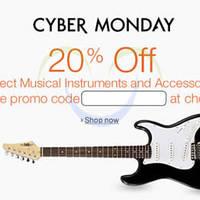 Amazon.com 20% OFF Musical Instruments & Accessories (NO Min Spend) Coupon Code 1 - 5 Dec 2015
