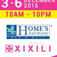 Home's Harmony & Xixili Clearance Sale @ Citta Mall 3 - 6 Dec 2015