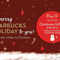 Read more about Starbucks 20% Off Christmas Merchandise 1-Day Promo 24 Dec 2015