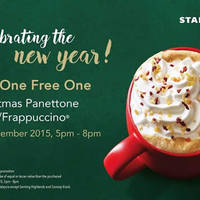 Read more about Starbucks Buy One FREE One Promo 5pm - 8pm 29 Dec 2015