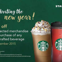 Read more about Starbucks 30% OFF Selected Merchandise 1-Day Promo 30 Dec 2015