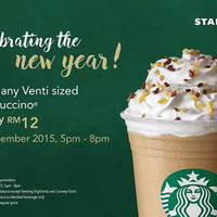 Read more about Starbucks RM12 Venti-Sized Frappuccinos 1-Day Promo 31 Dec 2015