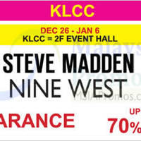Read more about Steve Madden & Nine West Clearance @ KLCC 26 Dec 2015 - 6 Jan 2016