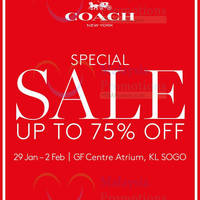 Read more about Coach Special Sale @ KL Sogo 29 Jan - 2 Feb 2016