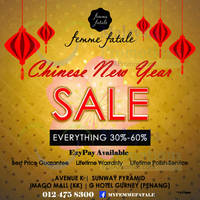 Read more about Femme Fatale 30% to 60% off Storewide CNY Sale 12 Jan - 8 Feb 2016