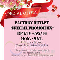 Read more about HYT Food Factory Outlet Special Promotion (Casahana) @ Sunway Damansara 19 Jan - 5 Feb 2016