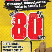Read more about Harvey Norman Warehouse Clearance Sale @ Citta Mall 22 - 24 Jan 2016