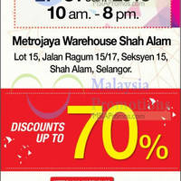 Read more about Metrojaya Warehouse SALE @ Shah Alam 27 - 31 Jan 2016
