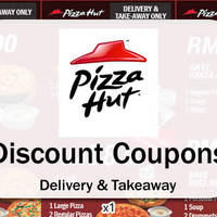Here are some NEW coupons you can use when ordering Pizza Hut Delivery or Pizza Hut takeaways, valid till 31 May 2016. Save up to RM41.30!