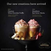 Read more about Starbucks New Chestnut White Chocolate Truffle & Strawberry Red Velvet Mocha From 5 Jan 2016