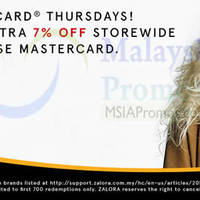 Read more about Zalora 7% OFF Storewide For Mastercard Cardholders (Thursdays) 21 Jan - 29 Dec 2016