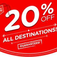 Air Asia 20% OFF All Destinations 15 - 21 Feb 2016
