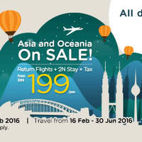 Read more about Air Asia Go fr RM199/pax (Return Flights, 2N Stay & Taxes inc.) 15 - 28 Feb 2016