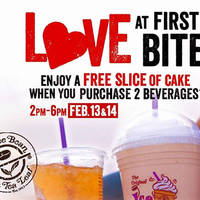 Coffee Bean & Tea Leaf Buy 2 Beverages & Get FREE Cake 13 - 14 Feb 2016