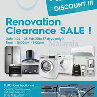 Read more about Electrolux Renovation Clearance Sale 22 - 28 Feb 2016