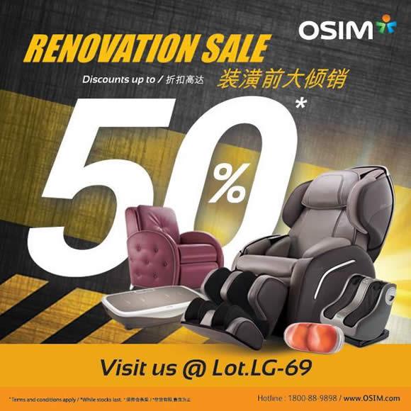 OSIM Renovation Sale @ Paradigm Mall 7 - 22 Feb 2016