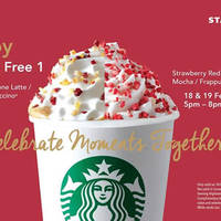 Read more about Starbucks Buy 1 FREE 1 (5pm to 8pm) 18 - 19 Feb 2016