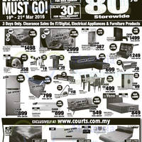 Read more about Courts Up To 80% Off Savings Offers 19 - 21 Mar 2016