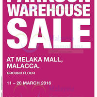Read more about Parkson Warehouse Sale @ Melaka Mall 11 - 20 Mar 2016
