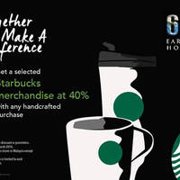 Read more about Starbucks 40% Off Merchandise w/ Any Beverage Purchase 1-Day Promo 17 Mar 2016