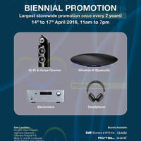 Read more about Bowers & Wilkins Biennial Sale @ Jaya One 14 - 17 Apr 2016