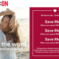 Read more about Cotton On RM30 to RM80 Off Storewide Women, Kids, Body, Typo, Rubi & More 24hr Promo 26 Apr 2016