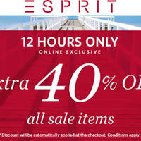 Read more about Esprit 40% Off All Sale Items 12hr Promo till 2359hrs on 24 Apr 2016