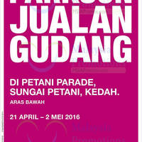 Read more about Parkson Warehouse Sale at Petani Parade Kedah from 21 Apr - 2 May 2016