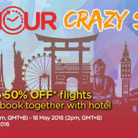 Read more about Air Asia Go Up To 50% Off 50hr Crazy Sale from 16 - 18 May 2016