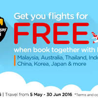 Get your flight for FREE when you book together with hotel via Air Asia Go
