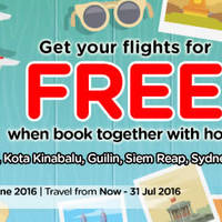 Get your flight for FREE when you book together with hotel via Air Asia Go's promotion