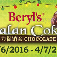 Beryl's will be having a Chocolate SALE from 15 Jule to 4 July 2016. Visit for special discount & exclusive chocolate products fresh from the factory