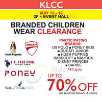 Read more about Branded Children Wear Clearance at Isetan KLCC from 13 - 18 May 2016