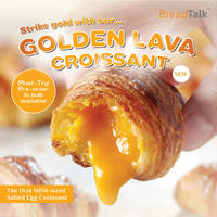 Grab a box of Golden Lava Croissant at Breadtalk Mid Valley outlet now, at RM 2.10/1 pcs & RM 10.60/6 pcs.