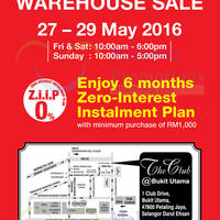 Clarks will be having a Warehouse Sale from 27 May to 29 May 2016 at The Club @ Bukit Utama