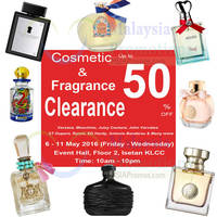 Isetan KLCC will be having a Cosmetics & Fragrance Clearance Sale from 6th to 11th May 2016 at Event Hall 2, Floor 2, Isetan KLCC